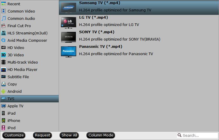 Samsung TV preset profile format