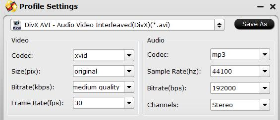 Adjust output audio codec